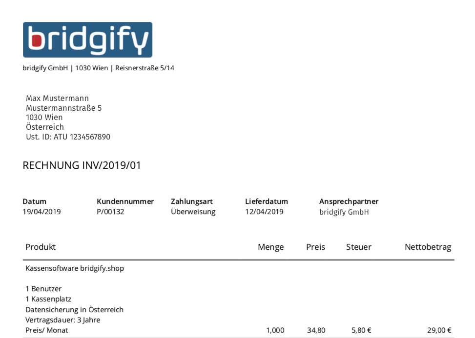 Rechnungssoftware Wien Rechnungslegung invoicing